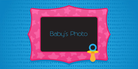 Kid's photo frame collage vector illustration