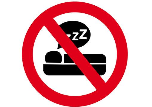 Schild Schlafen verboten