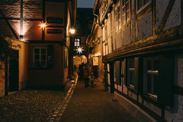 Advent in den Höfen in Quedlinburg, Deutschland