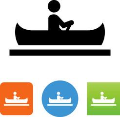 Canoe Icon - Illustration