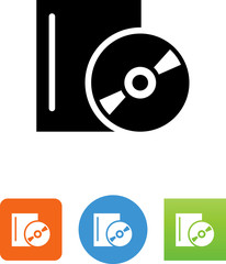 CD With Case Icon - Illustration