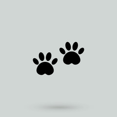 paw - black vector icon