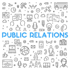 Line web concept for public relations