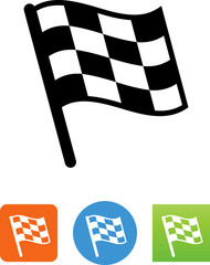Checkered Flag Icon- Illustration