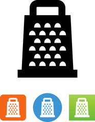 Cheese Grater Icon - Illustration