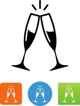 Champagne Toast  Icon - Illustration