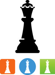 Chess Queen Icon - Illustration