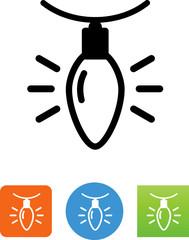 Christmas Light Icon - Illustration