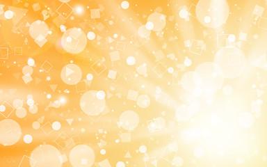 Soft Gold glitter sparkles rays lights bokeh Festive Elegant abstract background.