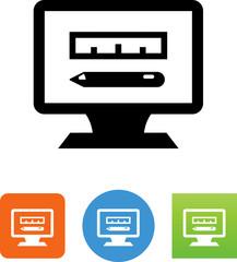Computer Aided Design Icon - Illustration
