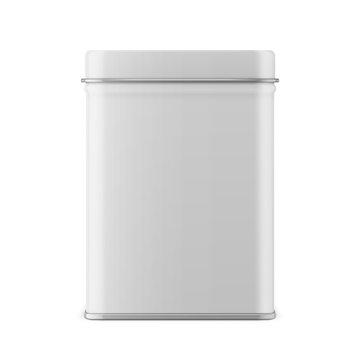 Rectangular glossy tin can template.
