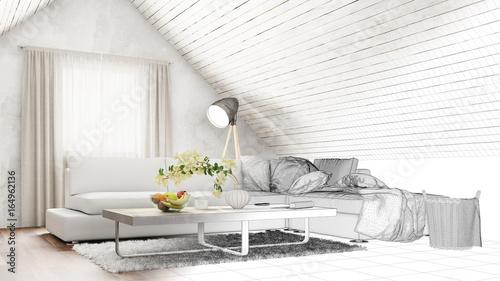 Planung Von Wohnzimmer Im Dachgeschoss