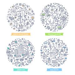 Ecology Doodle Illustrations