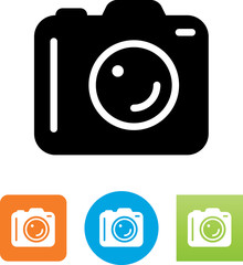 DSLR Camera Icon - Illustration