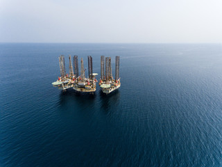 Aerial Photo of Oil and Gas Platform