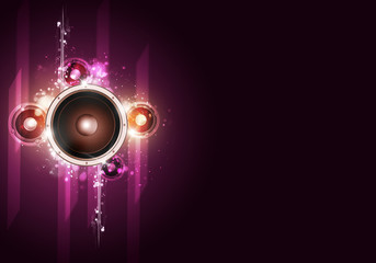 Disco Party Bright Background