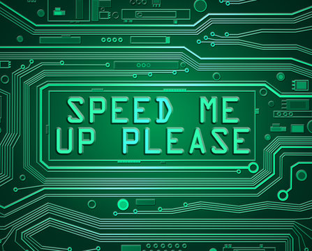 Slow computer concept.