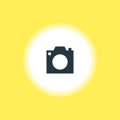 Vector Illustration Of Camera Icon. Beautiful Check-In Element Also Can Be Used As Photo Device Element.