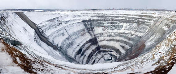 Mirny diamond mine. Russian Diamond Mine. Yakutia