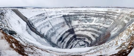 Mirny diamond mine. Russian Diamond Mine. Yakutia