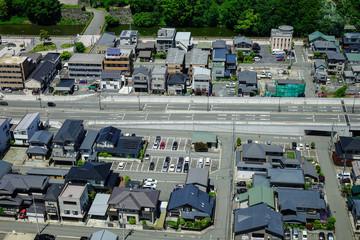 View of Yamagata City in Tohoku, Japan