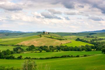 Poster Hill Beautiful Tuscany landscape