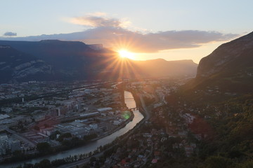 Grenoble sunset