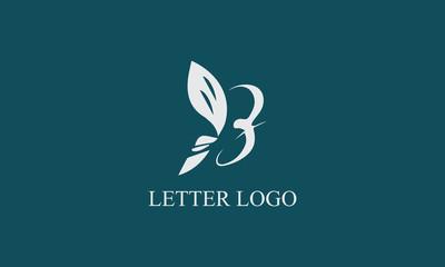 butterfly letter B logo