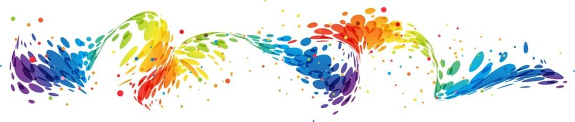Splash colorful wave