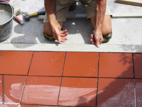 Miglioramento domestico ristrutturazione il lavoratore dell