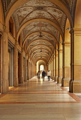 Arcades of Bologna. Italy