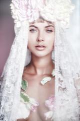 Portrait of a beautiful fashion bride