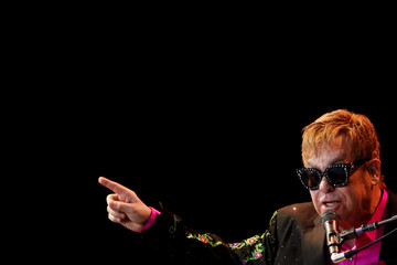British singer-songwriter Elton John performs during a concert at the Starlite Festival in Marbella