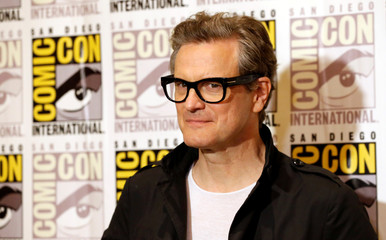 "Cast member Firth poses at a press line for ""Kingsman: The Golden Circle"" during the 2017 Comic-Con International Convention in San Diego"