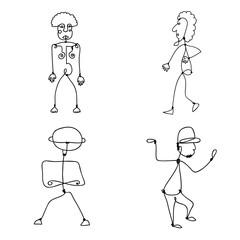 Vector set of Abstract Human Symbols