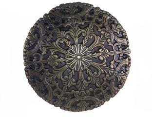 Ancient copper emblem,shield