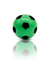 low quality print green football or soccer ball