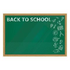 black to school chalkboard