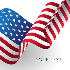 United States flag. Independence Day background. Fourth of July celebrate. Patriotic design. Vector