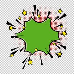 Comic speech bubble element. Halftone circle on transparent background. Vector set. Comic text. Vector bubble icon speech phrase. Comics book balloon. Halftone background.