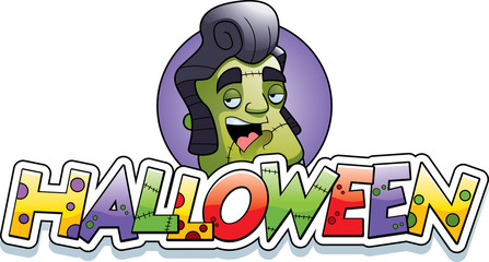 Cartoon Monster Halloween Graphic