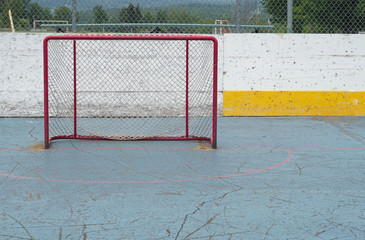 empty goal hockey sport net aspiration playing success