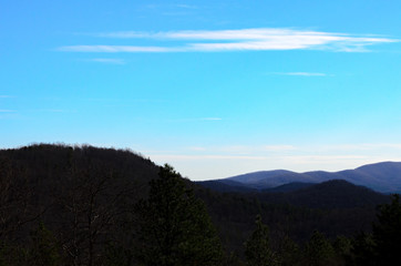 Rolling foothills of the Appalachians near Anniston, Alabama, USA