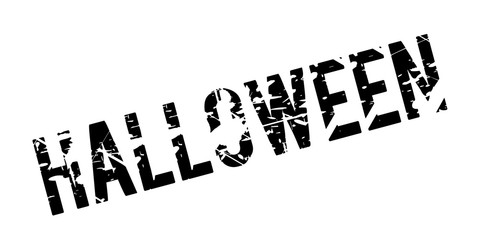 Halloween rubber stamp. Grunge design with dust scratches. Effects can be easily removed for a clean, crisp look. Color is easily changed.