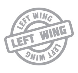 Left Wing rubber stamp. Grunge design with dust scratches. Effects can be easily removed for a clean, crisp look. Color is easily changed.