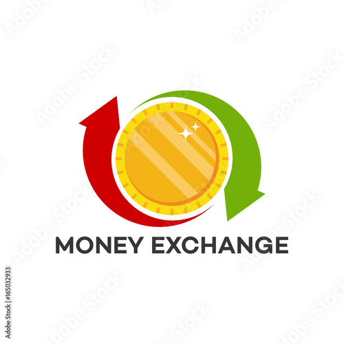 Money Transfer Logo Exchange Template Designs Vector Ilration