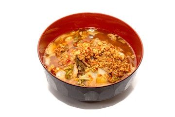 Sour soup with spawn fish,Thai food