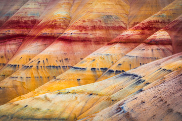 Painted Hills detail, John Day Fossil Beds National Monument, Oregon, USA Wall mural