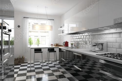 meine neue k che stockfotos und lizenzfreie bilder auf bild 165041737. Black Bedroom Furniture Sets. Home Design Ideas