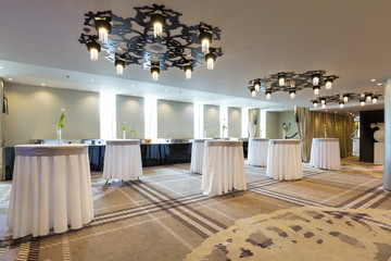 Reception space in hotel